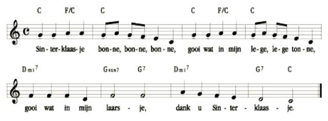 Sinterklaasje Bonnebonnebonne bladmuziek