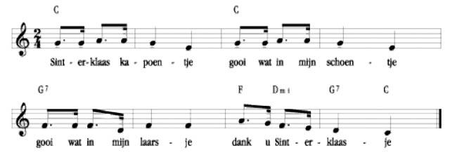 Sinterklaas kapoentje bladmuziek
